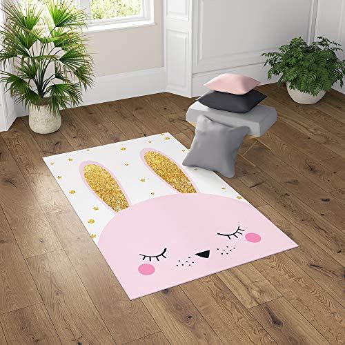 Paria Home Kinder-Teppich Für Kinderzimmer, Spiel-Teppich Mit Hüpfkästchen, CatKitty (80 x 150 cm)