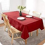 Amazon Brand - Umi Mantel Mesa Comedor Manteles para Restaurantes Comedor Cocina 140 x 200 cm Rojo