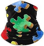 Scaldacollo in microfibra Autismo Consapevolezza Puzzle colorato Scaldacollo Tubo Scaldacollo Sciarpa fascia Maschera Passamontagna per uomo e donna
