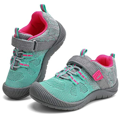okilol Toddler Shoes Girls Kids Sneakers Athletic Running Shoes Baby LT Grey/Teal 5 M US Toddler