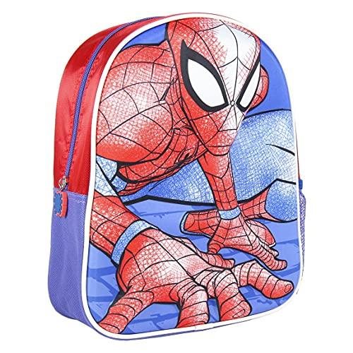 Cerdá - Mochila Infantil Niños 1 - 5 Años de Spiderman con Licencia Oficial de Marvel Studios® - Medidas 25 x 31 x 10 cm