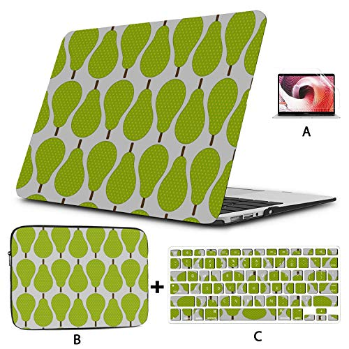 Macbook 15 Cover Colorful Cute Summer Fruit Pear 15 Inch Laptop Case Hard Shell Mac Air 11'/13' Pro 13'/15'/16' With Notebook Sleeve Bag For Macbook 2008-2020 Version
