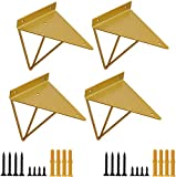 Soporte para Estanteria Flotante Forma de Triángulo Geométrico, 15.7 x 13 cm...