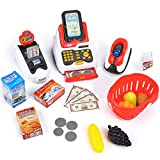 Victostar Toy Cash Register with Checkout Scanner,Fruit Card Reader,...