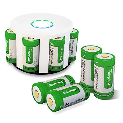 Arlo Akkus, morpilot Wiederaufladbare 3.7V 700mAh Li-ion Arlo Batterien, mit Batterie Gehäuse und Silikon Hüllen für Arlo Überwachungskamera VMC3030/3230/3330/3430 (8PCS)