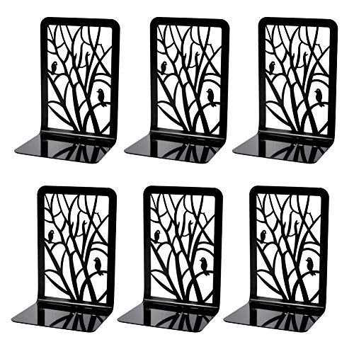 Book Ends Bookends Book Ends for Shelves 3Pair Non Skid Metal Heavy Duty Bookend for Heavy Books Book Divider Decorative Holder Abstract Art Design Book Stopper Supports for Office Home 3pairA