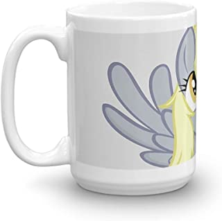 Derpy Hooves 15 Oz Ceramic Glossy Mugs Gift For Coffee Lover Unique Coffee Mug, Coffee Cup. 15 Oz Classic Coffee Mugs, C-handle And Ceramic Construction