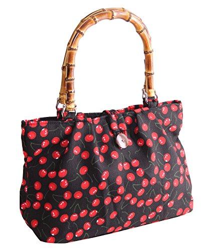 SugarShock Akamu Kirschen Damen Handtasche, Farbe:Schwarz