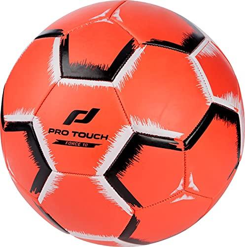 Pro Touch Force 10 - Balón de fútbol, Color Rojo, Blanco y Negro