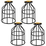 Kohree Metal Bulb Guard Lamp Cage, for Pendant Light, Lamp Holder, Ceiling Fan Light Bulb Covers Vintage Open...