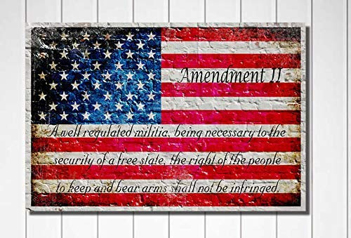 Canvas or Archival paper American Flag /& 2nd Amendment Print Available on Metal