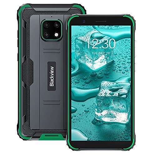 """Móvil Resistente, Blackview BV4900 Pro Android 10 Rugged Smartphone 4GB+64GB 2.0GHz MediaTek Helio P22 Octa-Core Procesador, con Batería 5580mAh y 5.7""""HD+ Pantalla, Cámara Triple 13MP, IP68/NFC/FM"""