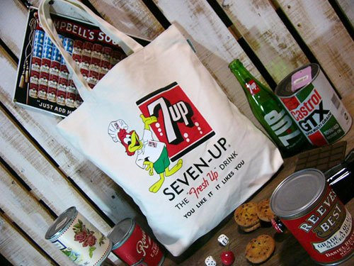 【7up】セブンアップ・キャンバストートバッグ <SEVEN-UP Fresh Up>