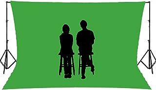プロ仕様 FRN防炎&伸縮クロマキースクリーン*ダブル巾サイズ 上部パイプ通し袋縫いタイプ 合成撮影用背景布/グリーンバック【SLEIGHTHAND社製】 (W3.2m×L3m)