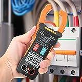 Yhtech Pinza multímetro digital, ST205 4000 cuentas completa inteligente rango de verdadero valor eficaz medidor digital for equipos eléctricos de prueba y mantenimiento automático (naranja)