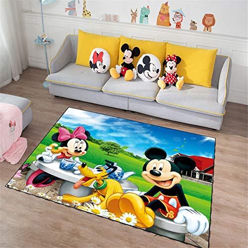 Alfombras Salon Mickey mouse de dibujos animados 160x230cm Diseño Moderna Geométrica Grande Tapete para Piso Dormitorio...