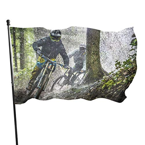 3x5 FT Flag Garden Banner, Mountain Bike Show Polyester Double Stitched, Durable and UV Fade Resistant, for Home Garden Indoor Outdoor Decor