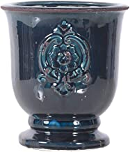 Little Green House Ceramic Dark Blue Round Vase - Large