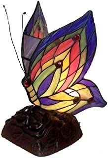 Warehouse of Tiffany's TN09218/D213 Tiffany Style Yellow Butterfly Accent Lamp, 5