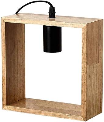 Yuyuan Lámparas de Escritorio de Madera nórdica Moderna Mesa de ...