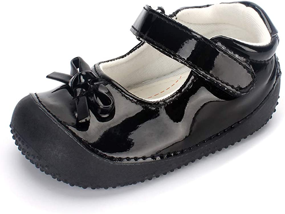 ESTAMICO Toddler Girls Mary Jane Flat Dress Shoes Infant First Walkers Sneakers