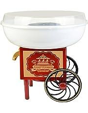 Gadgy ® Retro sockervaddsmaskin för hemmabruk | Cotton Candy Machine | fungerar med socker eller hårt godis| Sockervaddsmaskin för barnkalas| Röd & Vit