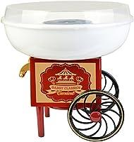 Gadgy Suikerspinmachine voor thuis | Klassieke Suikerspin maker op wielen | voor suiker of (suikervrij) snoep |...