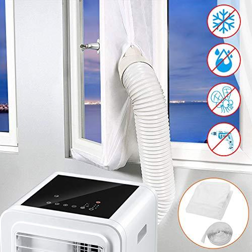 Becoyou Kit Ventana Aire Acondicionado portatil, Cubierta Aislante para Aire Acondicionado Portátiles y Secadoras. Adecuado para Aire Acondicionado Portátil, Parada de Aire Caliente 500CM