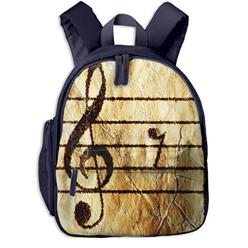 Kinderrucksack Kleinkind Jungen Mädchen Kindergartentasche Klavier Notenblatt Gitarre Backpack Schultasche Rucksack