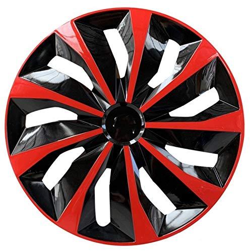 CHICAI Rueda de Ajuste Compatible con 13/14/15 Pulgada Cubiertas de la Rueda del Coche Modificación de Piezas Red 1PCS (Size : 13INCH)