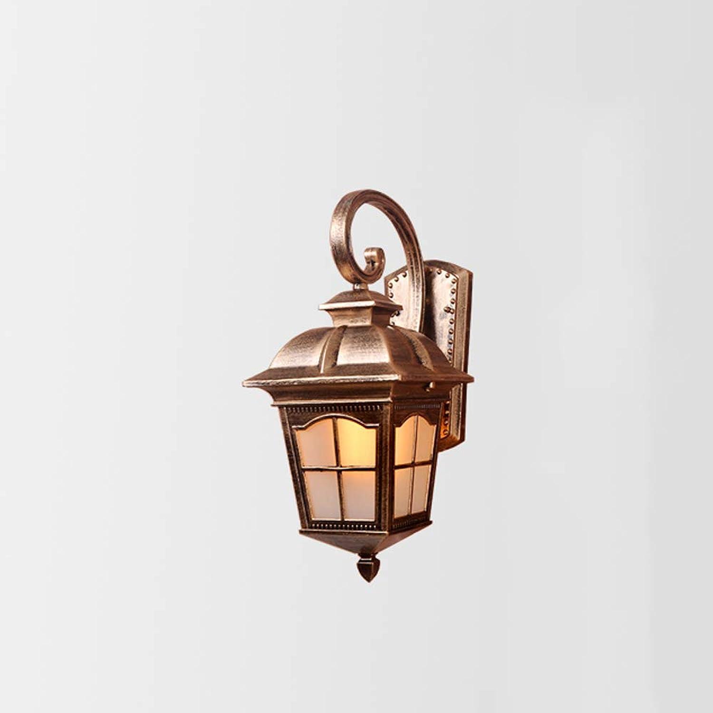 AXWT Hohe qualitt Europischen outdoor wandleuchte wasserdichte lampe auenleuchte balkon wandleuchte flur gang villa anti-gericht wand lampe (Farbe   Bronze-Cross)