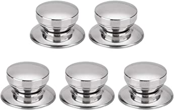 uxcell 5pcs Stainless Steel Lid Knobs Pan Pots Cover Lids Heat Resistance Knob Handle for Kitchen Cookware Bakeware Cover