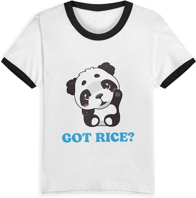 Got Rice Bamboo Panda Spirit Animal Bear T-Shirts Novelty for Kids Tees with Cool Designs