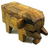 Elephant Kumiki Large - 3D Brain Teaser Wooden Puzzle