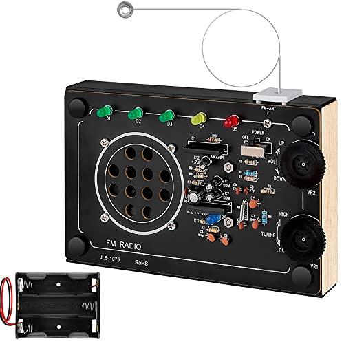 Seamuing Kit de Radio FM de Bricolaje Construir Proyecto Electrónico de Soldadura Utilizado para Principiantes Niños Estudiantes Adultos para Aprender