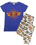 Marvel Loungepants y Camiseta con Estampado de Logo Capitán, Conjunto de Pijama