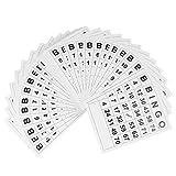 TOYANDONA 60 Tarjetas de Bingo Tarjetas, Desechables de Número de Bingo Juego de Cartas para Niños Fiesta Familiar ( Blanco )