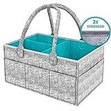 BYETOO Baby Diaper Caddy Organizer - Baby Shower Gift Basket For Boys Girls,Portable
