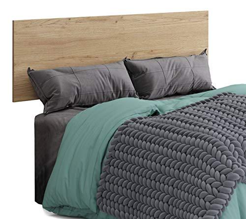 Miroytengo Cabecero Cama Clim Estilo Industrial Color Roble glod habitacion Dormitorio Matrimonio 160x50 cm