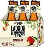 Ladrón de Manzanas Cider - 2 Pack de 6 Botellas x 250 ml (Total: 12 botellas de 250 ml 3 L)