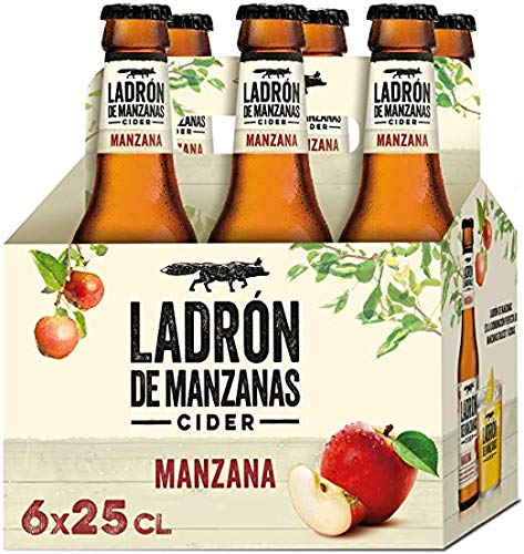 Ladrón de Manzanas Cider - 2 Pack de 6 Botellas x 250 ml (Total: 12 botellas de 250 ml 3 L)