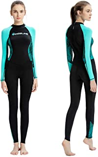 Dive Skins Full Body Swimsuit Wetsuit Scuba Rash Guard Diving Suit for Women Men Adult, Long Sleeve Swimwear One Piece UV ...