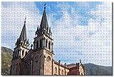 Rompecabezas de la Catedral de España Asturias para adultos y niños 1000 piezas Puzzle de madera Recuerdos especiales de viaje (compra 1000 piezas de rompecabezas y consigue 300 piezas gratis)