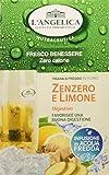 L'Angelica Tisana Funzionale a Freddo Zenzero e Limone 15 filtri - Confezione da 10pz...