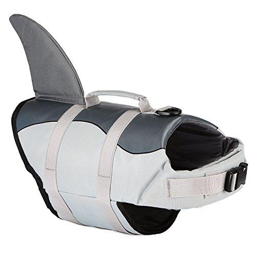 PetLoft HundeSchwimmwesten, Einstellbares Dog Life Jacket Hunde-Schwimmweste Schwimmhilfe für Schwimm/Bootfahren/Strandspielen, Zwei Niedliche Muster Erhältlich