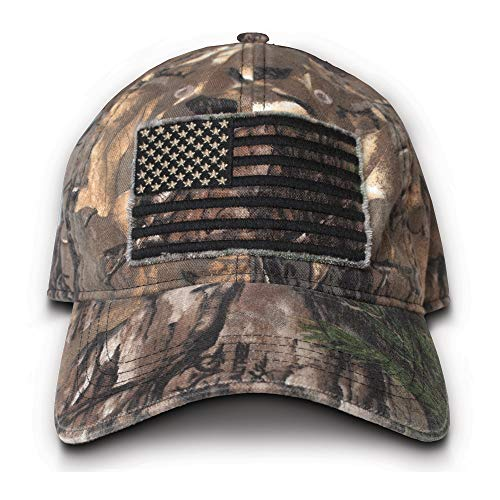 Buck Wear Herren Smooth Operator Hat mit Black-Out American Flag One Size Camouflage