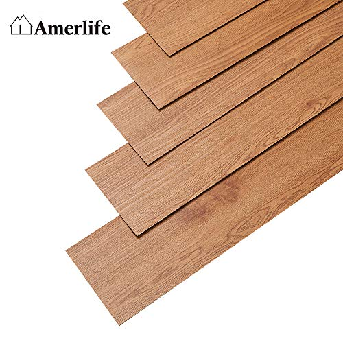 AMERLIFE 54 Square Feet Vinyl Flooring Planks...