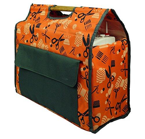 Kleiber Nähmaschinentasche, Polyester, orange, 65 x 28 x 10 cm