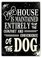 この家は犬のためです メタルポスター壁画ショップ看板ショップ看板表示板金属板ブリキ看板情報防水装飾レストラン日本食料品店カフェ旅行用品誕生日新年クリスマスパーティーギフト