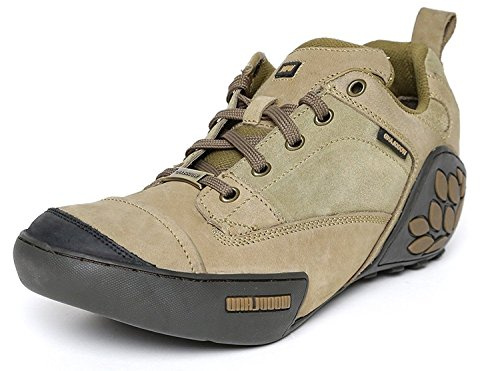 Woodland ProPlanet Men Khaki Solid Nubuck Leather Mid-Top Derbys Casual Shoes -7 UK